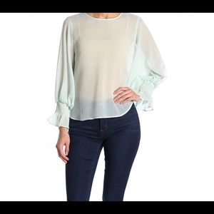Tops - NWT Sheer Mint Green Top Size Sm